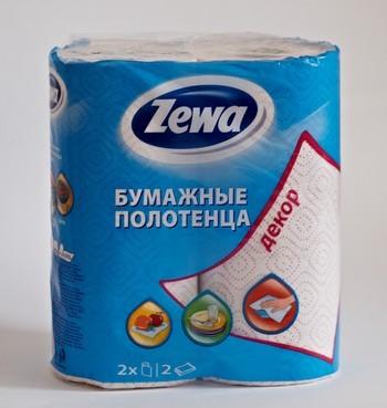 Zewa. Полотенца двухслойные бумажные.